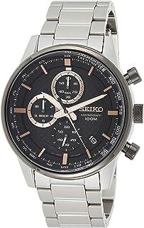 Seiko Montre chronographe pour Homme en Acier Inoxydable avec Bracelet en métal
