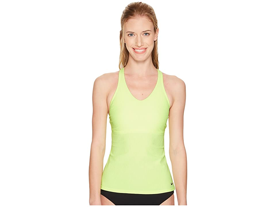Nike Racerback Tankini (Volt Glow) Women