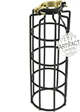Rustic State Industrial Design Cylinder Metal Wire Light Cage   Lamp Guard for DIY Wall Lighting in Black
