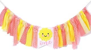 Baby'sSunshineBannerfor1stBirthday-YouareMySunshineHighChairBanner,FirstBirthdayGetTogetherforDecorations,PhotoPropsforBirthdayParty,Girl'sBirthday Souvenir Gifts(Pink Yellow)