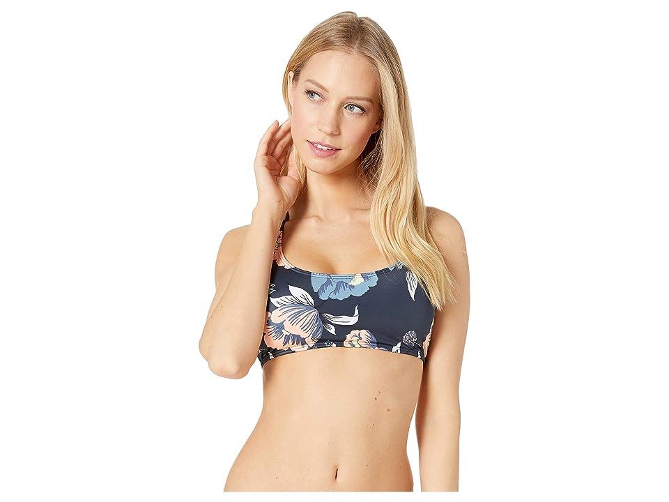 Roxy Roxy Fitness Regular Sports Bra Top (Medieval Blue Full Flowers 2) Women