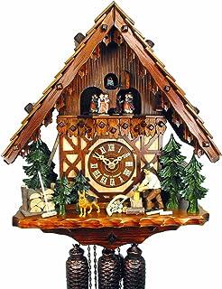 Orig. Reloj de cuco de la Selva Negra (certificado), 8 días, mecánico, música, bailarina, 40 cm, 5 años de garantía, con h...