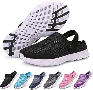 Acfoda Mesh Clogs Men's Women's Slip-On Slippers Summer Sabots Breathable Mules Non-Slip Beach Sandals for Boys Girls Size...