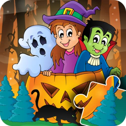Halloween Puzzles for kids - fun & happy jigsaw game for preschool toddlers, boys and girls
