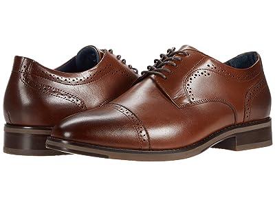 Johnston & Murphy Austin Cap Toe (Tan Full Grain Leather) Men