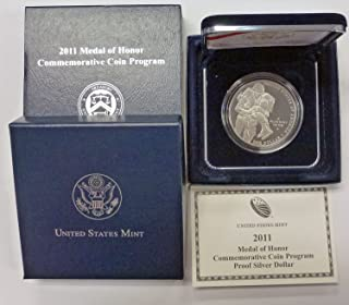 2011 P Medal of Honor Commemorative Silver Dollar Proof OGP