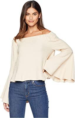 Bell Sleeve Off Shoulder