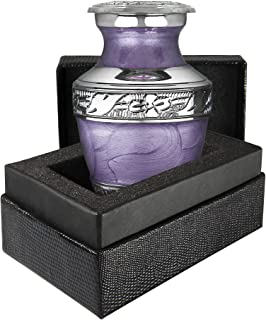 Eternal Peace Lavender Small Keepsake Urn for Human Ashes - Qnty 1 - Find Comfort in These Difficult Times with This Warm ...