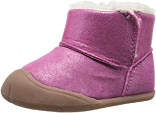Carter's Every Step Stage 1 Bucket Early Walker Boot (Infant), Pink Glitter, 3 M US Infant