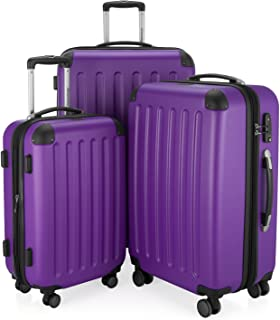 HAUPTSTADTKOFFER - Spree - Set de 3 Valise, Bagages Rigide, Trolley (S, M, L), ABS, TSA, extensible, extra léger, 4 roues, 259 L, Pourpre