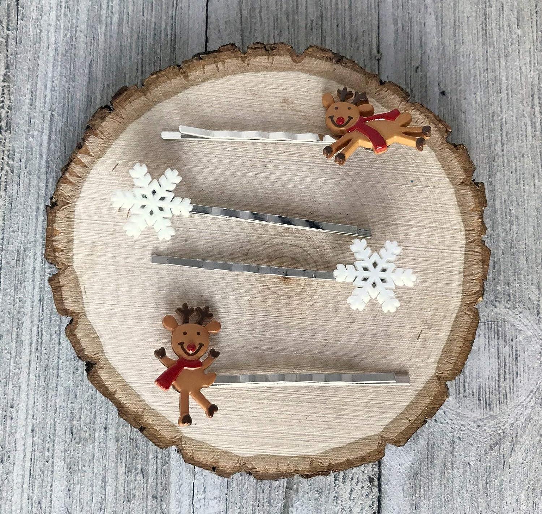 Reindeer Hair Pin Christmas Baltimore In stock Mall Chris Snowflake