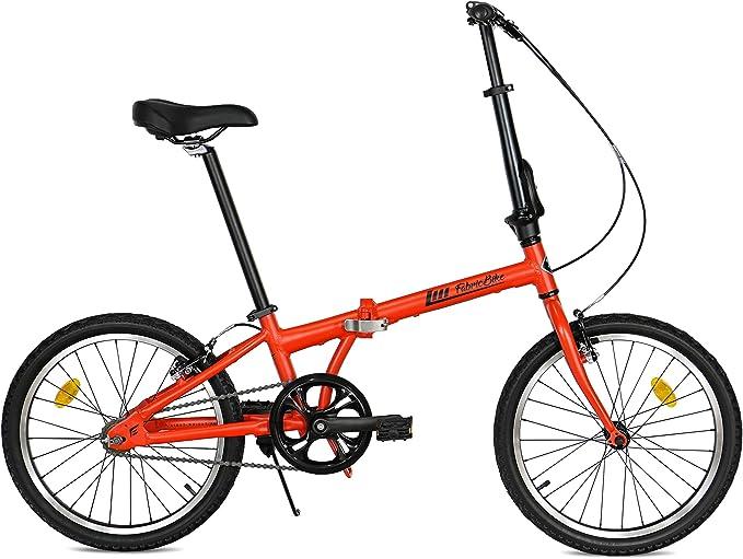 """111 opinioni per FabricBike Folding Pieghevole in Alluminio, 20"""", Bicicletta Single Speed, 3"""