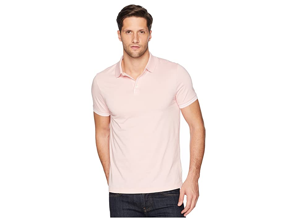 Perry Ellis Essential End On End Polo (Powder Pink) Men