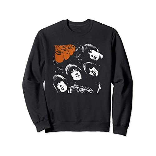 Beatles Men/'s  Song Titles Logo Hooded Sweatshirt Red