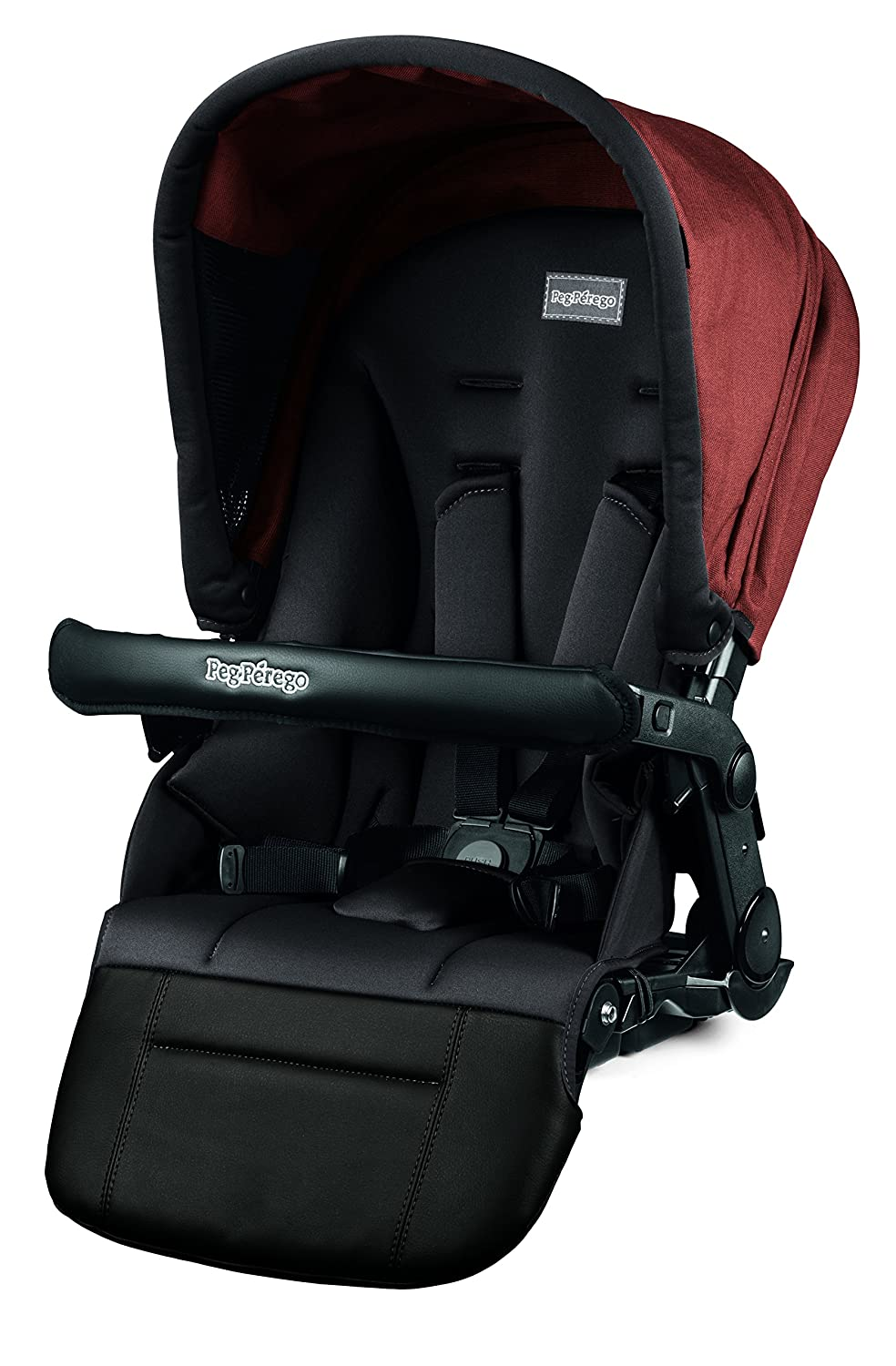 Peg Perego Pop-Up Seat for Team, Duette and Triplette Strollers, Terracotta
