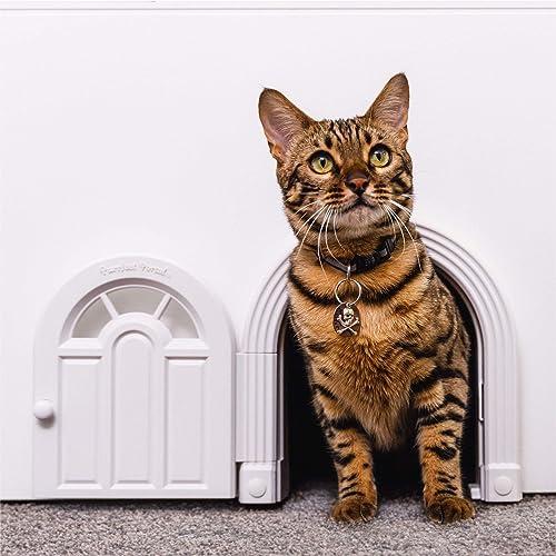 Purrfect Portal Interior Cat Door - No-Flap Cat Door for Interior Door, Cat Door Interior Door for Cats Up to 20 lbs,...