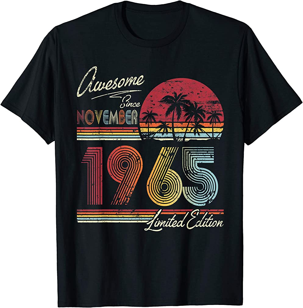 Awesome Since November 1965 54th Birthday Gift 54 Years Old T-shirt
