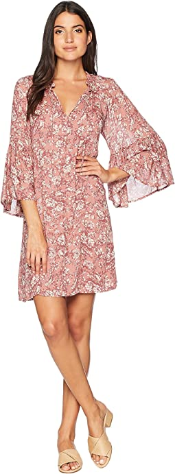 Printed Bell Sleeve Dress
