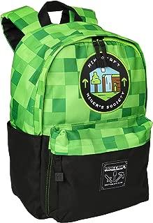 Minecraft Miner's Society Kids School Backpack, Green, 16