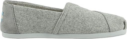 Grey Felt/Faux Shearling