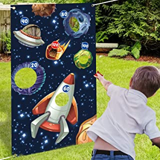 Outer Space Toss Games Banner Backdrop Indoor or Outdoor Galaxy Theme Birthday Party Decorations Supplies for Kids Adults ...