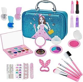 Tudaymol Kids Makeup Kit for Girl, Play Makeup for Little Girl ,Washable Makeup Toy Set,Real Cosmetic Beauty Set for Kids.