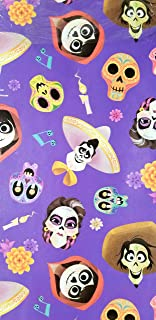 Coco Movie Day of The Death Wrapping Wrap Purple Paper 2-Sheets Party Gift Decoration …