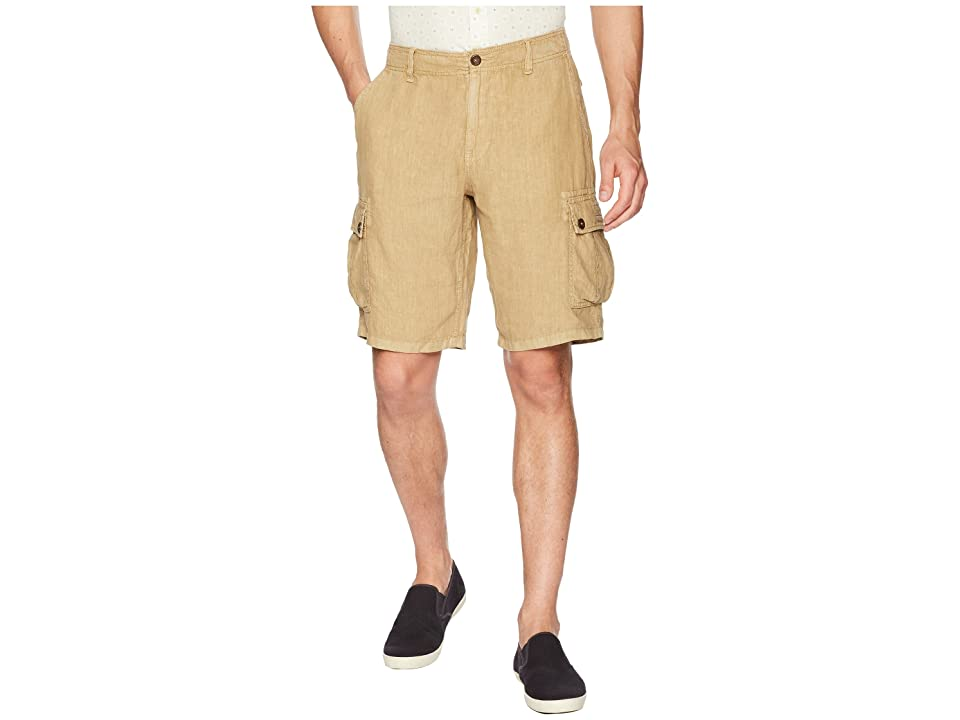 Lucky Brand Linen Cargo Shorts (Kelp) Men