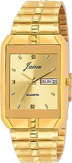 Jainx Golden Dial Day & Date Function Premium Analog Watch for Men - JM1127