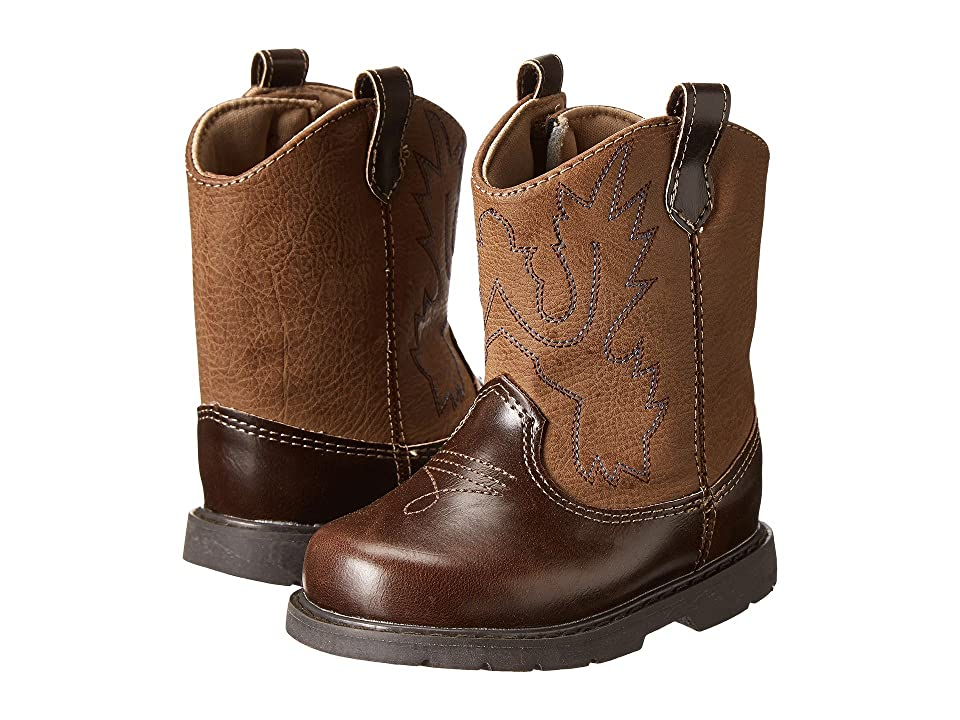 Baby Deer Western Boot (Infant/Toddler/Little Kid) (Brown) Cowboy Boots