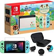 """Newest Nintendo Switch with Green and Blue Joy-Con - Animal Crossing: New Horizons Edition - 6.2"""" Touchscreen Screen - Fam..."""