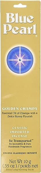 Blue Pearl Classic Fragrance Incense Prem Golden Champa 10 Gram
