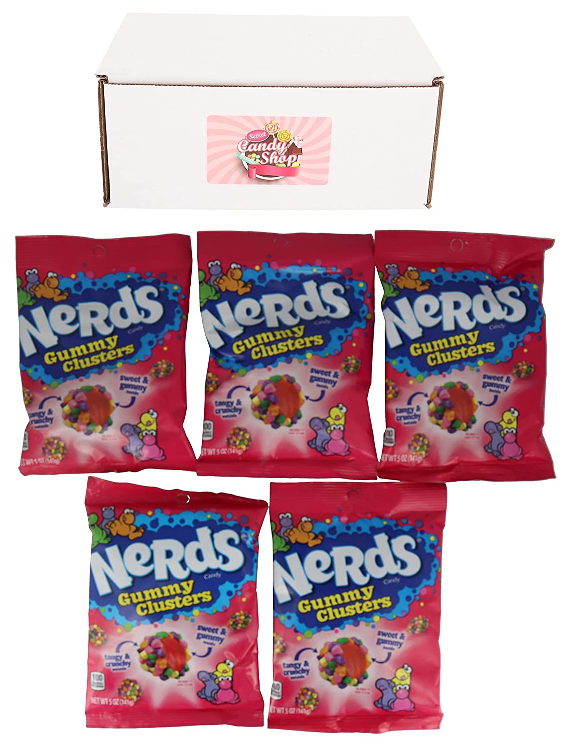 Nerds Gummy Clusters Candy 5oz (Pack of 5) With Magnet