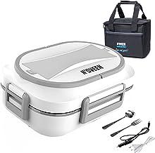 N'OVEEN Lunch box électrique LB510 chauffe-plats, plaque chauffante thermo lunch box d'une capacité de 1 litre - 230V + 12...