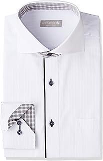 [ドレスコード101] 形態安定加工 ワイシャツ ビジネスでも カジュアルでも かっこよくきまるシャツ 長袖 豊富なサイズ レギュラー ボタンダウン ワイドカラー SHIRT-000 メンズ