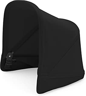 Bugaboo Donkey2 Sun Canopy, Black - Extendable Sun Shade for Full Weather Protection, Machine Washable