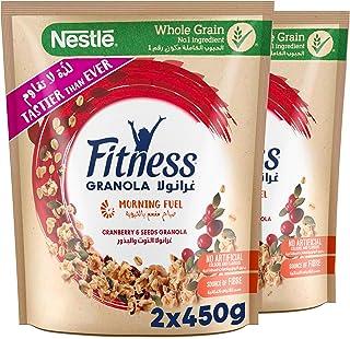 Nestle Fitness Granola Cranberry Breakfast Cereal Bag 450g (Pack of 2)