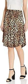 Star Vixen Women's Tie-Waist Ity Stretch A-line Mid-Length Skirt