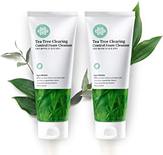 LovLuv Tea Tree Foaming Facial Cleanser, K Beauty Daily Face Wash with Natural Ingredients and Anti Aging Properties [2 PK]