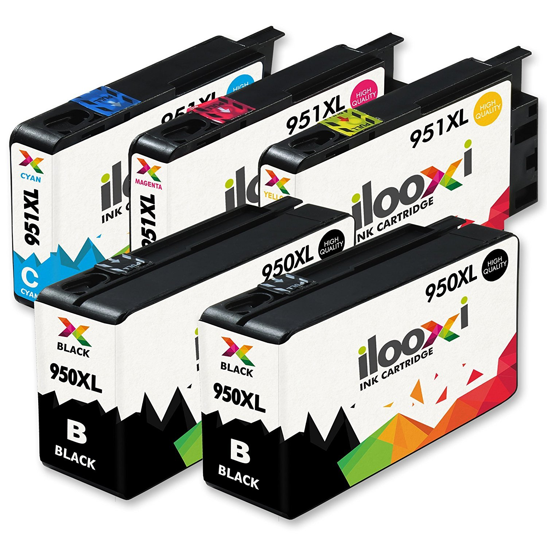 Ilooxi 5X Cartuchos de Tinta Compatible con HP 950 XL HP 950XL HP 951 XL 951XL: Amazon.es: Oficina y papelería