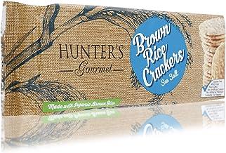 Hunter's Gourmet Seasalt Brown Rice Crackers - 100 gm