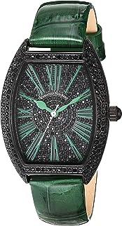 Christian Van Sant Women's Chic Stainless Steel Quartz Leather Strap, Green, 16 Casual Watch (Model: CV4846)