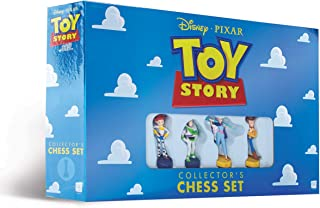 Disney Pixar Toy Story Collector's Chess Set | Featuring Toy Story 4 Characters - Jessie, Buzz Lightyear, Bo Peep, Woody | 32 Custom Sculpted Collectible Chess Pieces