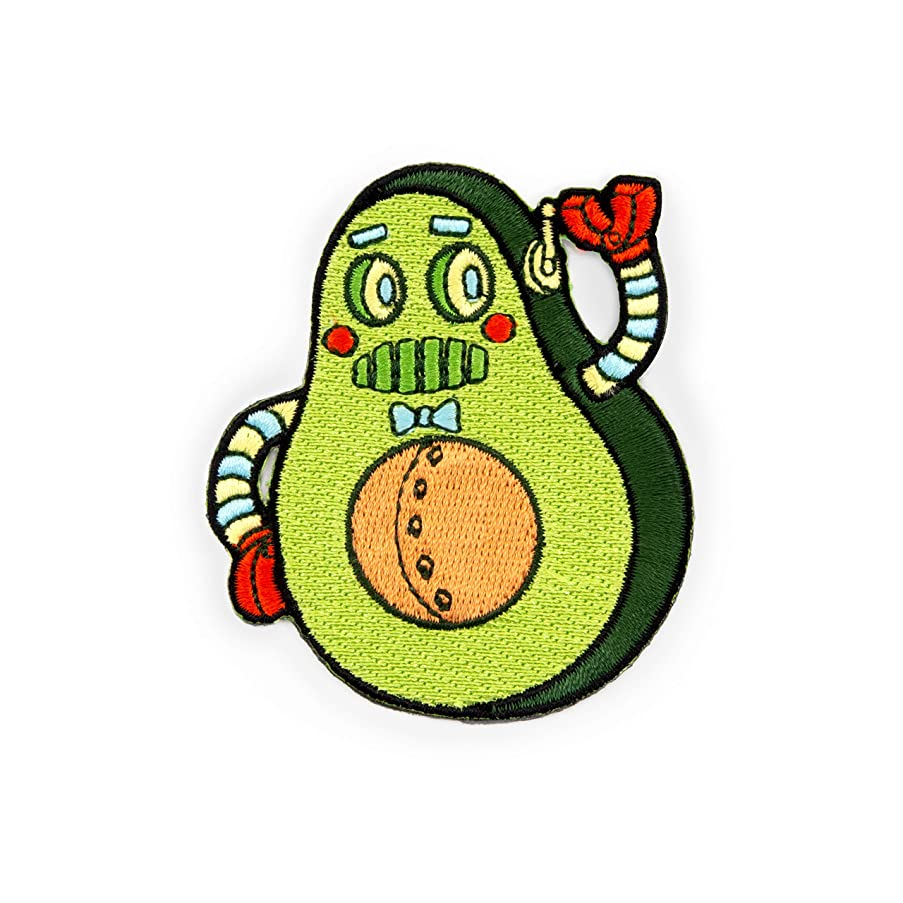Winks For Days Mr. Avocado Robot Embroidered Iron-On Patch
