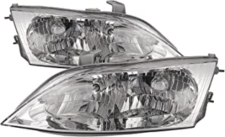 HEADLIGHTSDEPOT Compatible with Lexus ES300 Halogen-type New Replacement Headlights Set Headlamps Pair