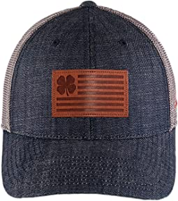 Leather Patch Clover/Navy/Charcoal