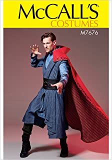 McCall's Patterns M7676MEN Superhero Cloak, Vest, Tunic, and Belt Cosplay Costume Sewing Pattern for Men, Sizes S-XXL