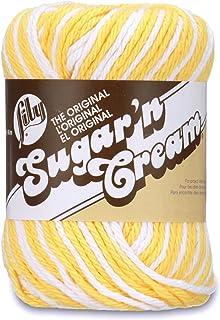 Lily Sugar 'N Cream The Original Ombre Yarn, 2oz, Gauge 4 Medium, 100% Cotton, Daisy - Machine Wash & Dry