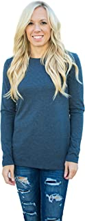 Fownd Better Basics Long Sleeve T Shirts for Women, Softer Everyday Womens Tops