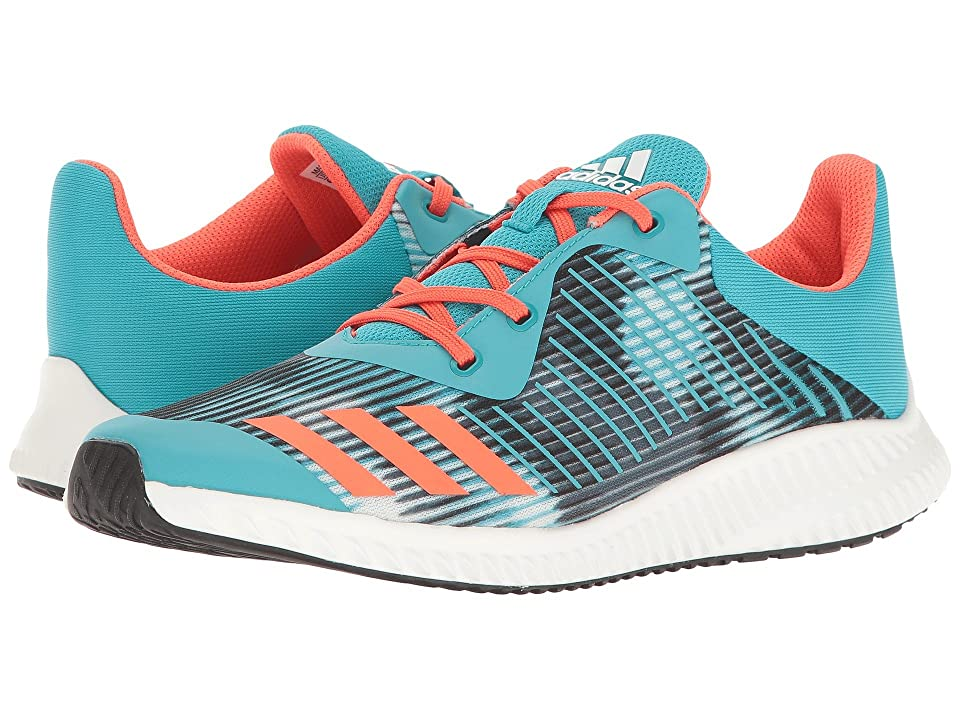 adidas Kids FortaRun Print (Little Kid/Big Kid) (Energy Blue/Easy Coral/White) Girls Shoes